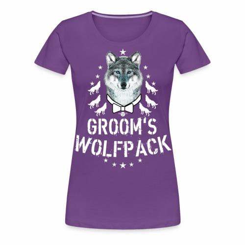 164 Wolf JGA GROOM'S Wolfpack - Frauen Premium T-Shirt