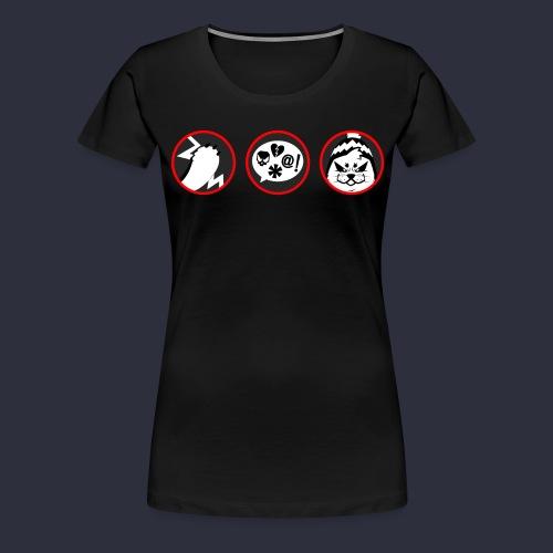 Kuutti | VAROITUS - Naisten premium t-paita