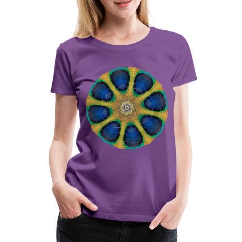 Pfau Kaleidoskop - Frauen Premium T-Shirt