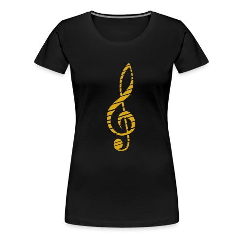 Goldenes Musik Schlüssel Symbol Chopped Up - Women's Premium T-Shirt