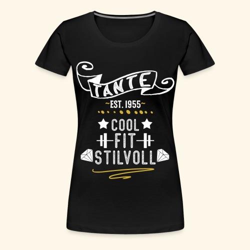 TANTE COOL FIT STILVOLL JAHRGANG 1955 - Frauen Premium T-Shirt