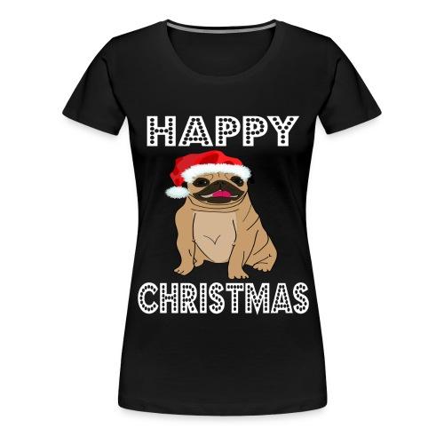 Hund Weihnachten Lustig geschenkidee Santa Claus - Frauen Premium T-Shirt