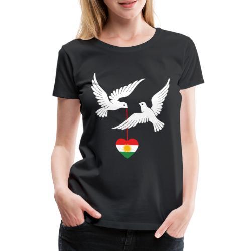 Kurdistan Design Kurdisch Flagge mit zwei Tauben - Frauen Premium T-Shirt