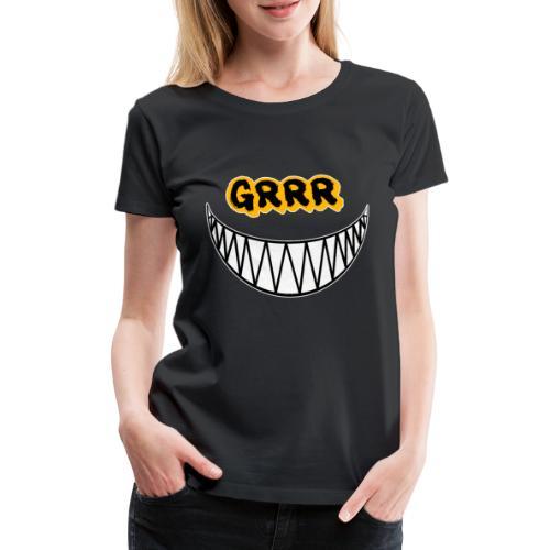 Grrr Cute but Psycho Katze - Frauen Premium T-Shirt