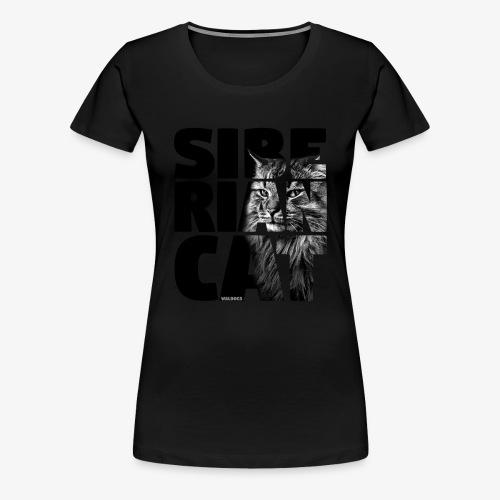 Siberian Cat Black - Naisten premium t-paita