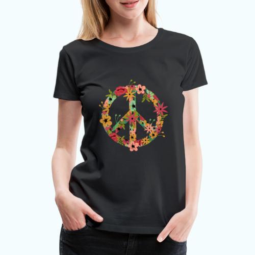 Peace Hippie Flower Power - Women's Premium T-Shirt