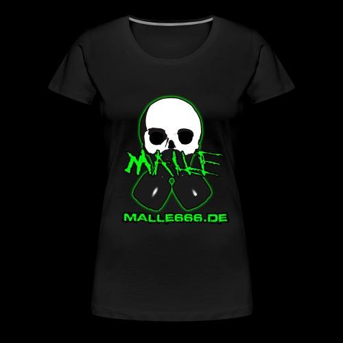 Malle666.de Logo Groß - Frauen Premium T-Shirt