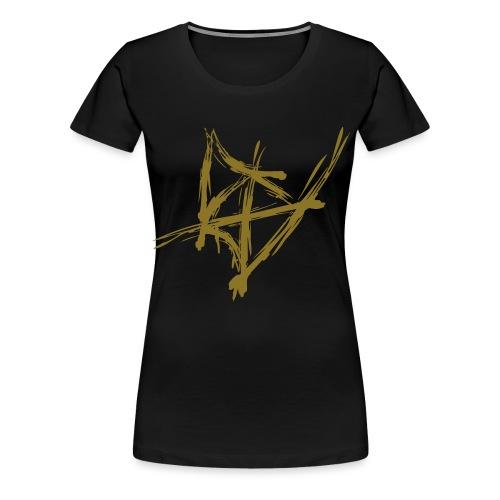 Styler Berg Logo GOLD - Frauen Premium T-Shirt