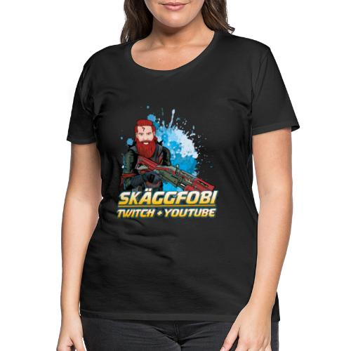 Skäggfobi Gubbe - Premium-T-shirt dam