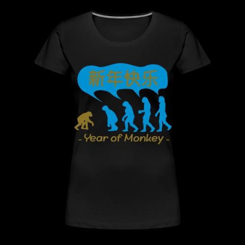 kung hei fat choi monkey - Women's Premium T-Shirt