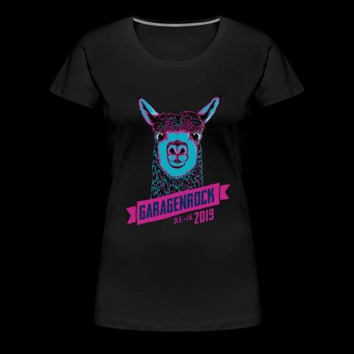 Vorderseite Garagenrock A - Frauen Premium T-Shirt