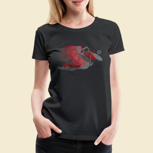 Radball | Earthquake Red - Frauen Premium T-Shirt