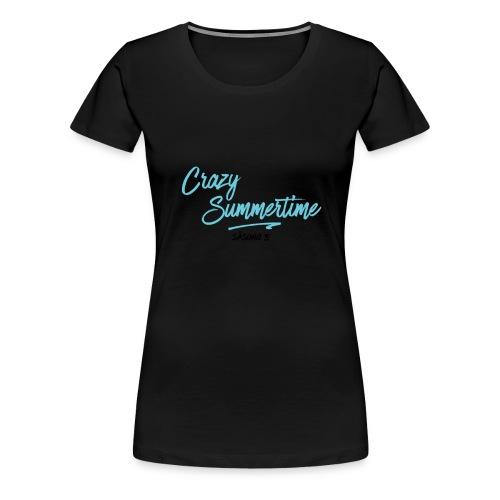 text till tröja svart - Premium-T-shirt dam
