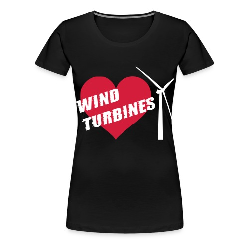 wind turbine grey - Women's Premium T-Shirt