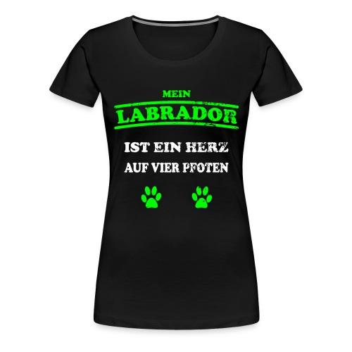 Labrador Hunde Pfoten Spruch Vierbeiner - Frauen Premium T-Shirt
