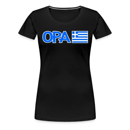 Greek Opa. Greek Flag. Cool Greek Vacation - Frauen Premium T-Shirt