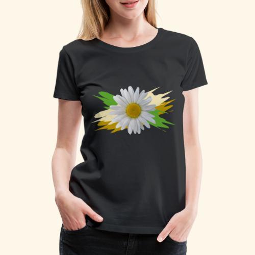 Margeriten Blüte, Blumen, floral, Gänseblümchen - Frauen Premium T-Shirt