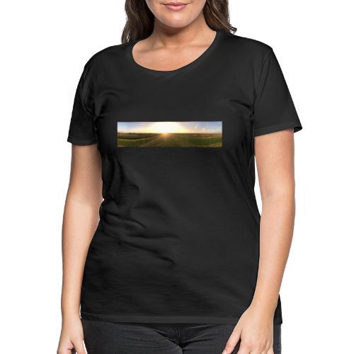 sun down - Frauen Premium T-Shirt