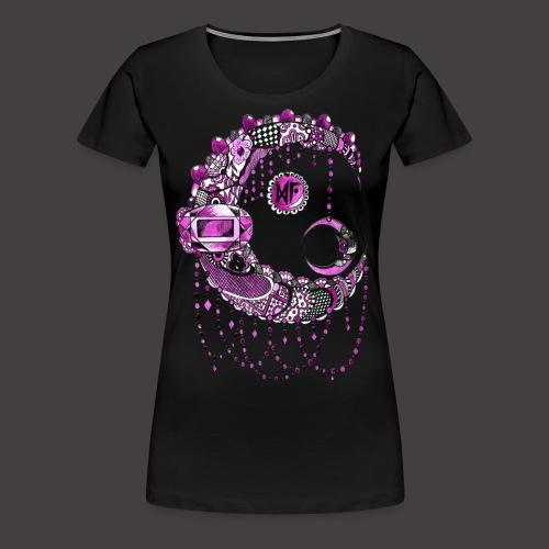 Lune dentelle Rose - T-shirt Premium Femme