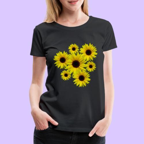Sonnenblumenstrauß, Sonnenblumen, Blumen, Blüten - Frauen Premium T-Shirt
