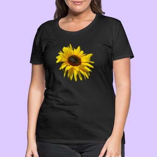 blühende Sonnenblume, Sonnenblumen, Blumen, Blüten - Frauen Premium T-Shirt