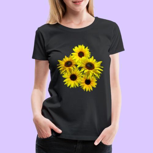 Sonnenblumenstrauss, Sonnenblume, Sonnenblumen - Frauen Premium T-Shirt