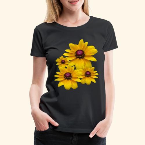 gelb blühende Sonnenhut Blumen, Blüten, floral, - Frauen Premium T-Shirt