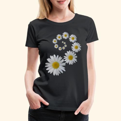 Margeriten Blume, Blumen, Blüte, floral, blumig - Frauen Premium T-Shirt