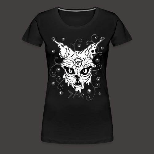 THE CAT fond noir - T-shirt Premium Femme