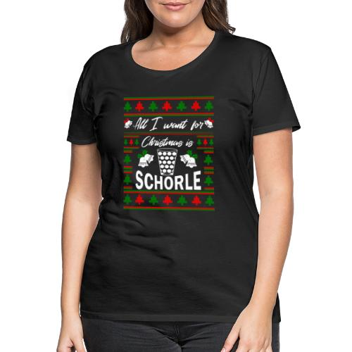 Ugly Christmas Schorle Pfälzer Weinschorle - Frauen Premium T-Shirt