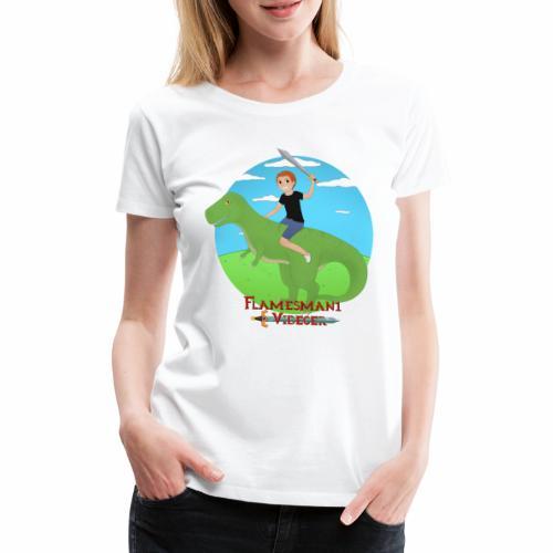Simon på Dino - Dame premium T-shirt