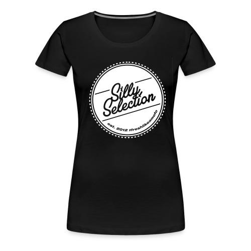 SillySelection_WHITE_logo - Premium-T-shirt dam