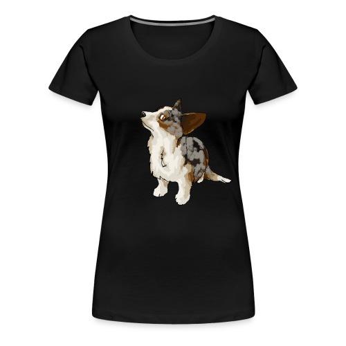 Corgi Merle - T-shirt Premium Femme
