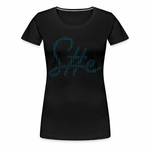 SheSharp Logo made of SheSharp Logos - Vrouwen Premium T-shirt