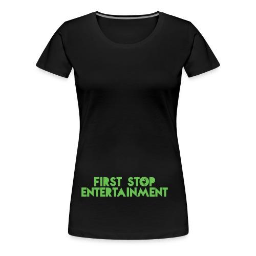 Text Logo png - Premium T-skjorte for kvinner