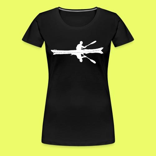 Silhouette Weiß Seekajak - Frauen Premium T-Shirt