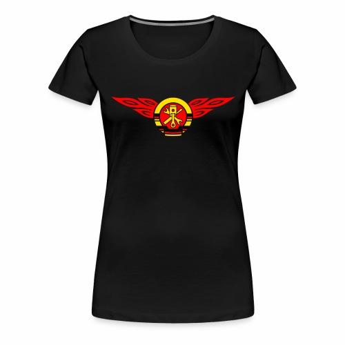 Car flames crest 3c - Women's Premium T-Shirt