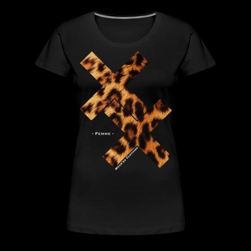 XX for Girls - Léopard (blanc) - T-shirt Premium Femme