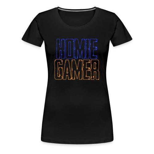 Hømie Gamer Klær (Neon Stil) - Premium T-skjorte for kvinner