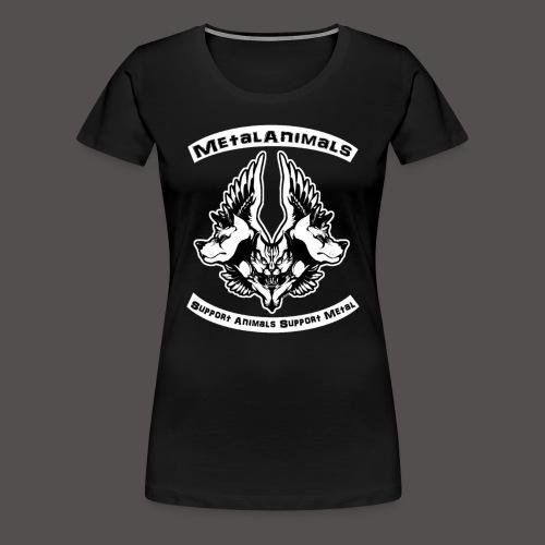 Logo Officiel MetalAnimals - T-shirt Premium Femme