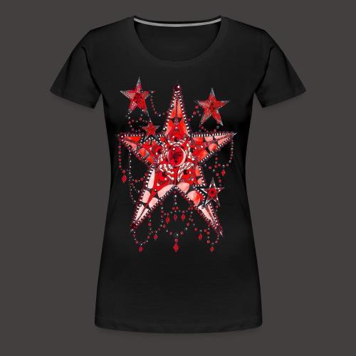 ETOILE DENTELLE ROUGE - T-shirt Premium Femme