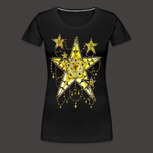 ETOILE DENTELLE JAUNE - T-shirt Premium Femme