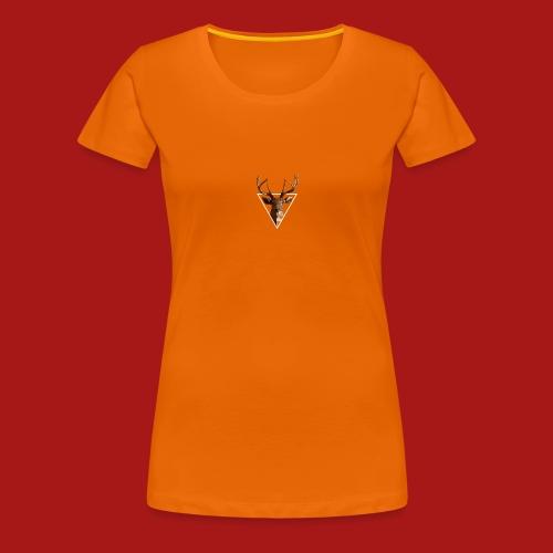 Deer-Head GOLD - Dame premium T-shirt