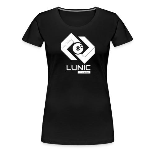 Lunic Music Logo (Weiß) - Frauen Premium T-Shirt