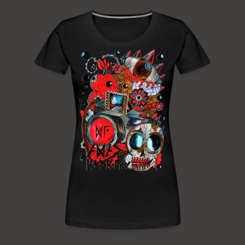 AGAC Picture Rouge et Bleu - T-shirt Premium Femme