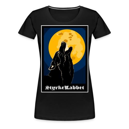 Hela världens favoritvarg - Premium-T-shirt dam
