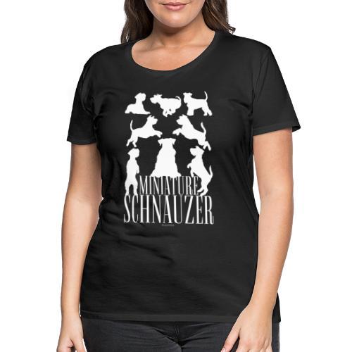 Miniature Schnauzer - Naisten premium t-paita