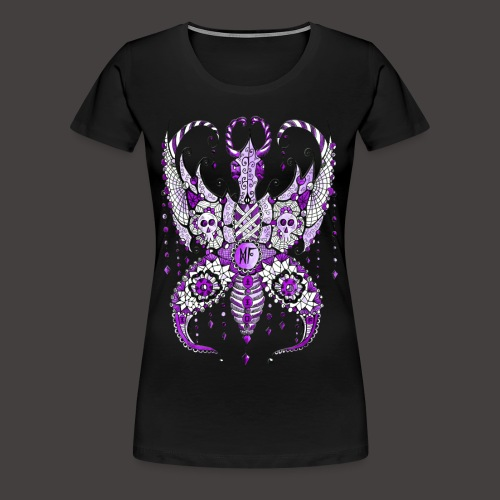 Papillon Lilou Violet - T-shirt Premium Femme