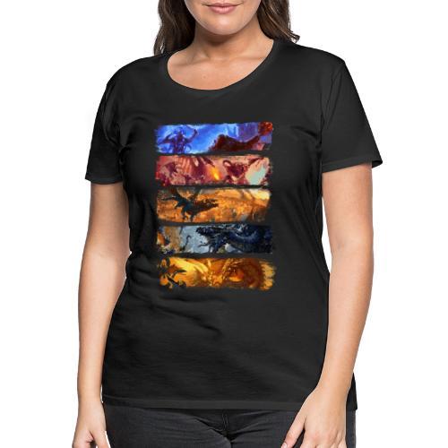 La grande bataille de pixels - Dungeons Dragons and D & D - T-shirt Premium Femme