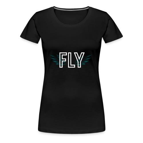 Wings Fly Design - Women's Premium T-Shirt